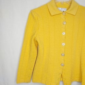 St. John Collection 6 Yellow Collared Jacket